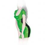 Insistline - Datex Kurzarm Minikleid zweifarbig mit Zip