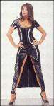 Ledapol - Umwerfendes glänzendes Lack Kleid mit Zip schwarz