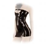 Anita Berg - Schulterfreies Latex Minikleid mit Zip ouvert