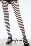 Leg Avenue - Blickdichte trendy Ringel-Strumpfhose in diversen Farben