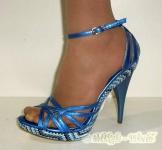 Glänzende Sandalette Fernanda blau