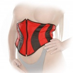 Ledapol - Original Echt Leder Taillen Mieder Corsage schwarz-rot
