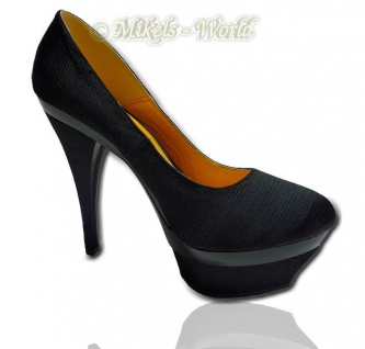 Eleganter Plateau Pumps Kate schwarz