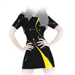 Insistline - Zweifarbiges Datex Kurzarm Minikleid mit Zip