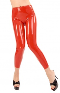 Anita Berg - Hautenge lange Zip Latex Leggings - Vorschau 1