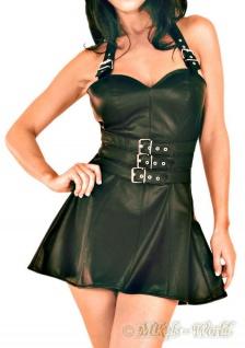 Ledapol - Echt Leder Mini-Kleid mit Schnallenverschlüssen