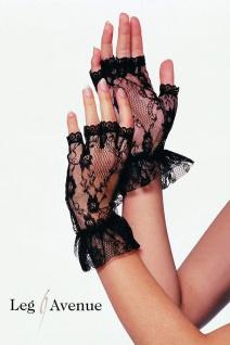 Leg Avenue - Edle kurze Spitzen Handschuhe ohne Finger in 2 Farben