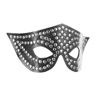 Ledapol - Echt Leder Fetisch Nieten Augenmaske / Augenbinde
