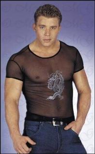 Drachen Shirt transparent- Dragon Hemd schwarz