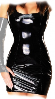 Ledapol - Heißes figurbetontes Lack Stretch Minikleid