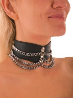 Ledapol - Leder Halsband mit Ketten