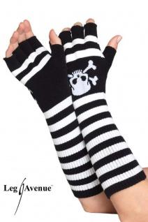 f9333436f6fdc1 Leg Avenue - Lange fingerlose Piraten Handschuhe / Armstulpen in diversen  Farben