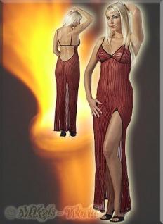 Sexy Glitzer Kleid / Negligé bordeaux-gold