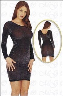 Gewagtes Lurex Glanz Kleid hauteng schwarz