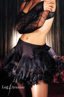 Leg Avenue - Tüll Mini-Rock Petticoat mit Spitze in diversen Farben
