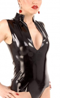 Anita Berg - Sexy knappes Latex Shirt / Top - Vorschau