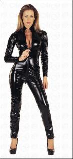 Hochgeschlossener Lack Overall / Catsuit schwarz