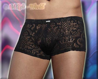 Pants / Shorts in Ausbrenner-Optik schwarz