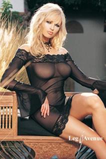Leg Avenue - Spitzen Kleid & String-Negligé schwarz