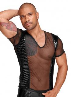 Noir Handmade - Rassiges transparentes Tüll Shirt mit Lack schwarz