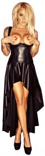 Noir Handmade - Rassiges ouvert Kleid mit Schnürung schwarz