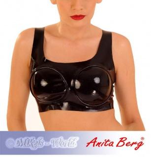 Anita Berg - Latex Top / Bustier mit geformten Cups