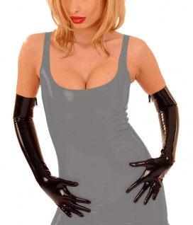 Anita Berg - Lange Latex Handschuhe / Gloves mit Zip