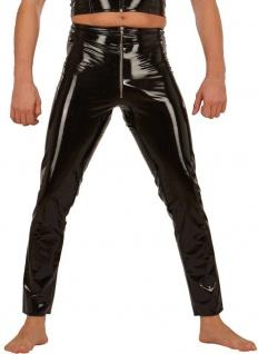 Ledapol - Herren Gay Lack Hose mit Gummizug und Zip