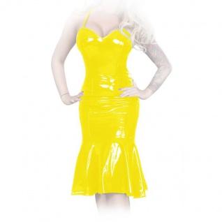 Insistline - Knielanges Datex Schnür Volant-Kleid mit Zip
