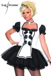 Leg Avenue - Hausdienerin Mistress Maid Minikleid Kostüm schwarz-weiß