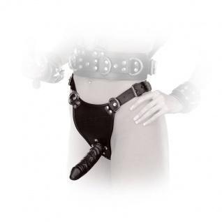 Ledapol - Echt Leder Harness Dildo / Penis Slip schwarz