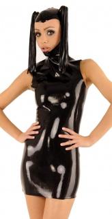 Anita Berg - Latex Ponymaske Zip-Kleid mit Pferdeschwänzen