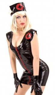Anita Berg - Latex Nurse-Dress Minikleid mit Haube