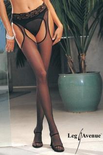 Leg Avenue - Sex Strumpfhose im Straps Look schwarz