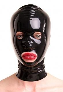 Anita Berg - Latex Zip-Maske mit runden Öffnungen