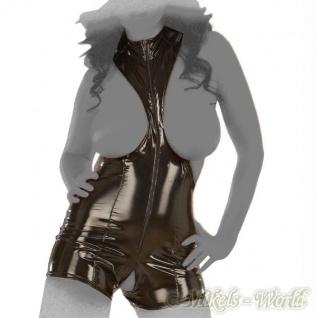 Ledapol - Extravaganter Lack Pants-Body ouvert mit Zip