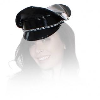 Insistline - Datex Military Look Mütze / Cap mit Metallkette schwarz