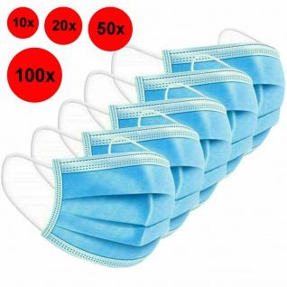 Atemschutz Maske 3-lagig Mund-Nasen-Schutz Gesichtsmaske Mundschutz Behelfsmaske