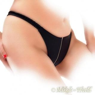 Ledapol - Edler Echt Leder String ouvert mit Zip