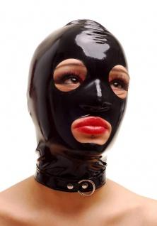 Anita Berg - Ausgefallende Latex Zip-Kopfmaske - Vorschau