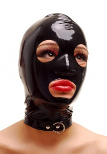 Anita Berg - Ausgefallende Latex Zip-Kopfmaske