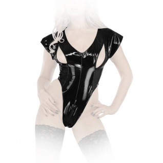 Ledapol - Scharfer Lack Stretch Body mit Zip ouvert
