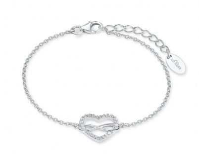 S.Oliver Silber Armband Herz Infinity 2020972