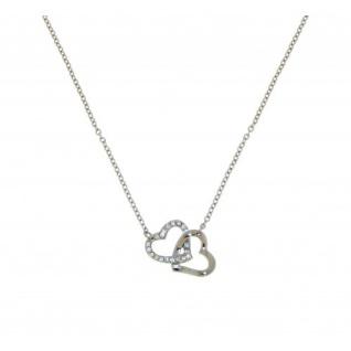 Lotus Style Halskette Herzen LS1912-1-1