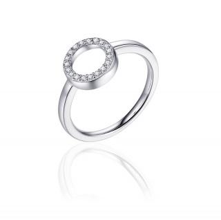 Ring Silber rund Zirkonia GISSER_R385