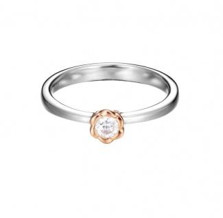 ESPRIT Ring Rosegold Silber petite rose ESRG92502A