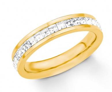 S.Oliver Edelstahl Ring IP Gold mit Swarovski Elements 2018554