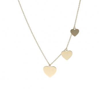Kette 375/- Gold Gravur Herzen