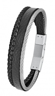 S.Oliver Herren Leder Armband 2024231
