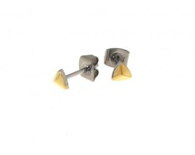Boccia Titanohrstecker Gold 05015-02